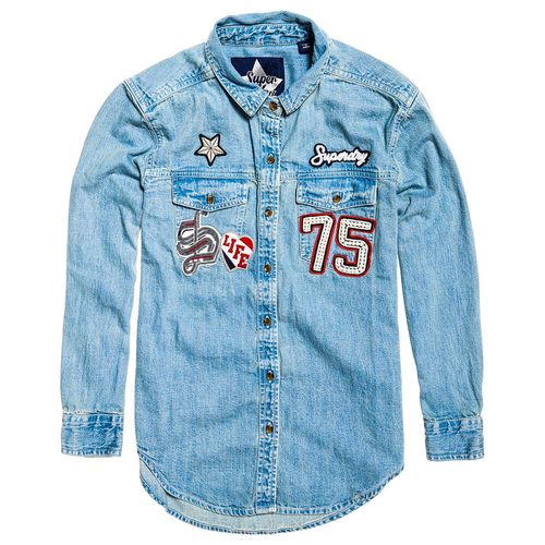 camisa-para-Mujer-oversized-badged-denim-shirt-superdry