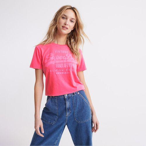 Camiseta-Para-Mujer-Premium-Goods-Tonal-Infill-Entry-Tee-Superdry