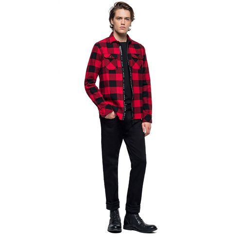 camisa-para-hombre-cotton-flannel-check-replay