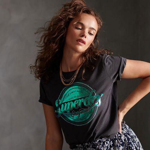 Camiseta-Para-Mujer-Original-G-Foil-Entry-Tee-Superdry