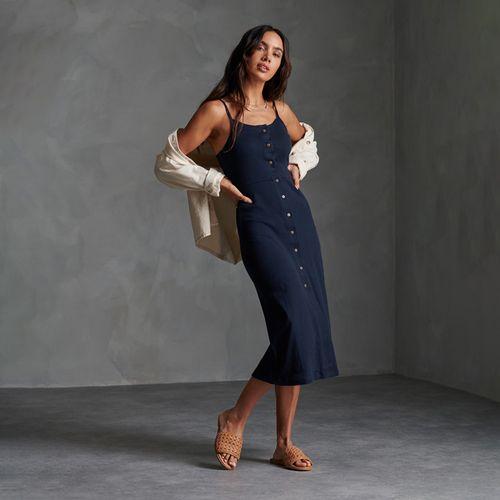 Vestido-Largo-Para-Mujer-Charlotte-Button-Down-Dress-Superdry