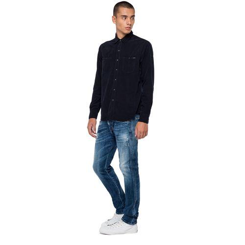 Camisa-Para-Hombre-Garmentdyedcord-Replay